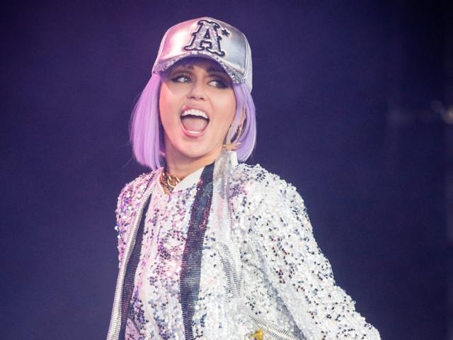 Miley Cyrus performs as 'Black Mirror' alter-ego Ashley O at Glastonbury