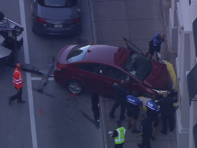 Police Investigate Crash Pinning Pedestrian Between Car, Building In Coral Gables