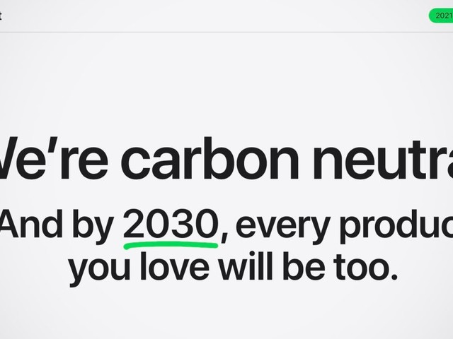 Apple releases 2021 Environmental Progress Report, focus on 2030 carbon neutral target