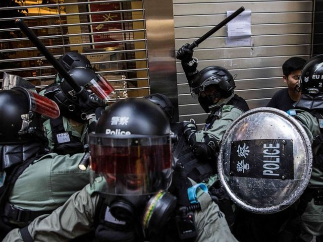 Monday of rage in Hong Kong: Protester shot by police, man set on fire by protesters