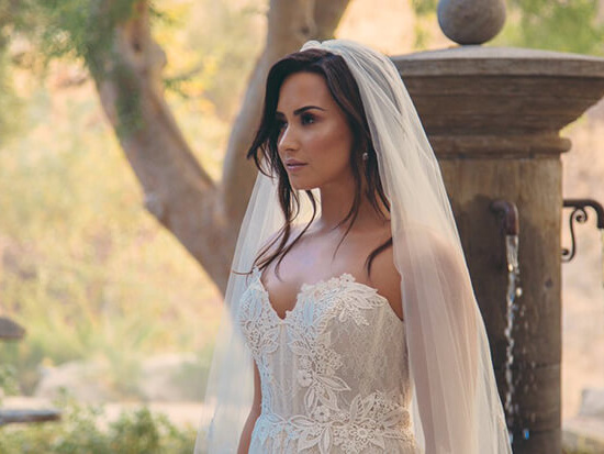 """Is Demi Lovato A Blushing Bride In Her """"Tell Me You Love Me"""" Video?"""