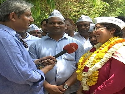 AAP's East Delhi Candidate Atishi's Road Show With Ravish Kumar