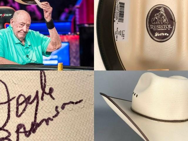 ¡Se vende! Cuánto cuesta un sombrero de Brunson autografiado