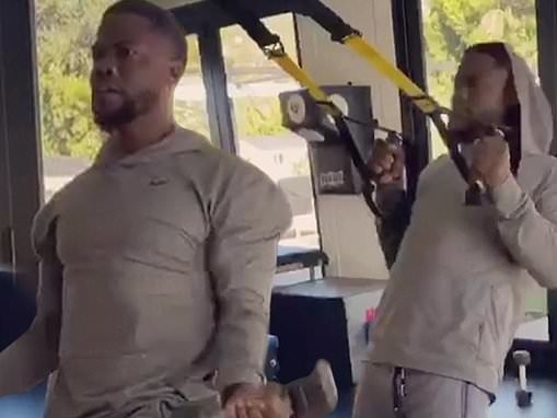 Kevin Hart lets his fans watch his strenuous workout routine as he recovers from crash