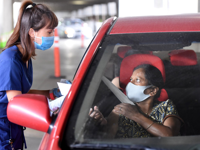 Long Beach Begins Vaccinating Food Sector Workers, But Demand Far Outpaces Supply