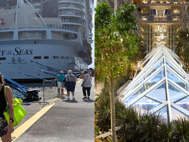 My favorite spot on the world's largest cruise ship was its 'Central Park,' a lush garden home to over 20,000 plants