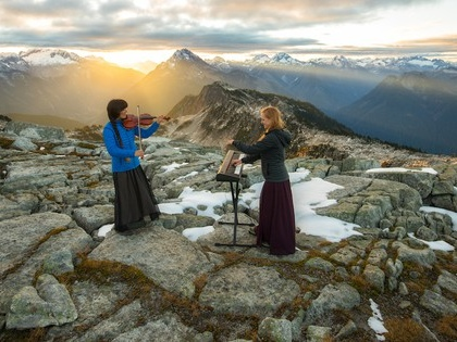 A mountain range is a concert hall for this musical duo