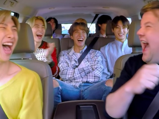 The Teaser For BTS's Carpool Karaoke With James Corden Is Just One Minute of Pure Joy