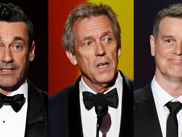 Jon Hamm, Hugh Laurie, & Peter Krause Present Awards During Emmy Awards 2019
