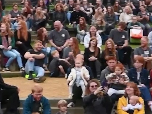 WATCH: Hundreds of redheads from around world gather for colorful festival