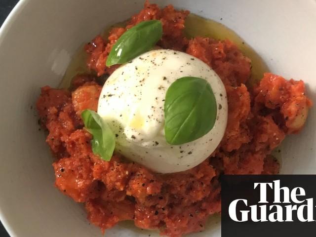 Matteo Aloe's recipe for pappa al pomodoro with mozzarella and 'nduja