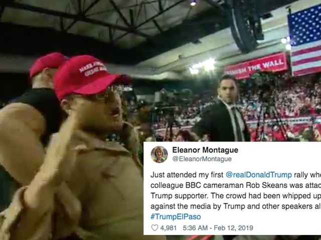 BBC cameraman gets attacked by Trump supporter at rally