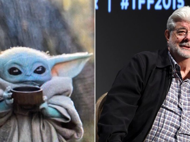 George Lucas finally met Baby Yoda and fans are calling it a 'blessed image'
