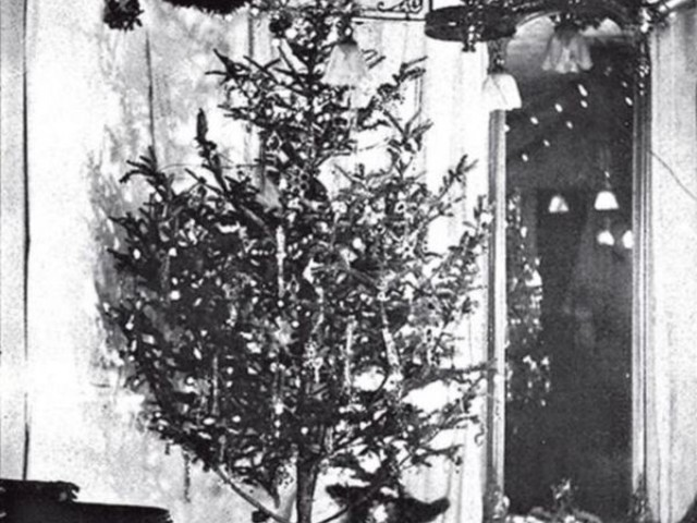 The World's First Christmas Tree with Electric Lights