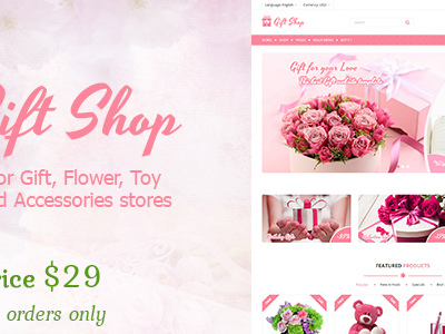 Gift shop - Gift, flower, toy & accessories Shopify stores (Shopify)