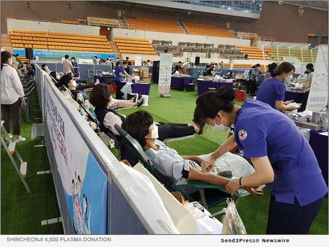 Four Thousand Recovered Members of Shincheonji Church of Jesus Donate Plasma for the Third Time to Combat COVID-19