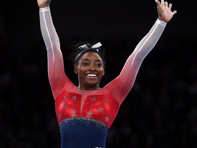 Biles sets record as US wins world gymnastics team gold