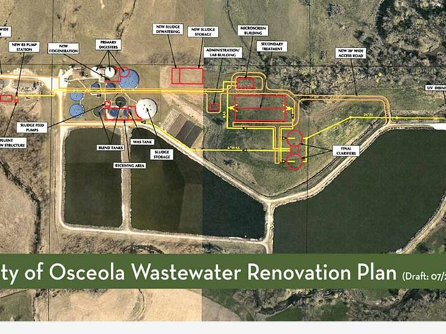 Osceola City Council Green Lights Contractor Bidding On New Wastewater Plant