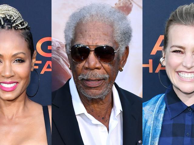 Jada Pinkett Smith, Morgan Freeman, & Piper Perabo Step Out for 'Angel Has Fallen' Premiere!