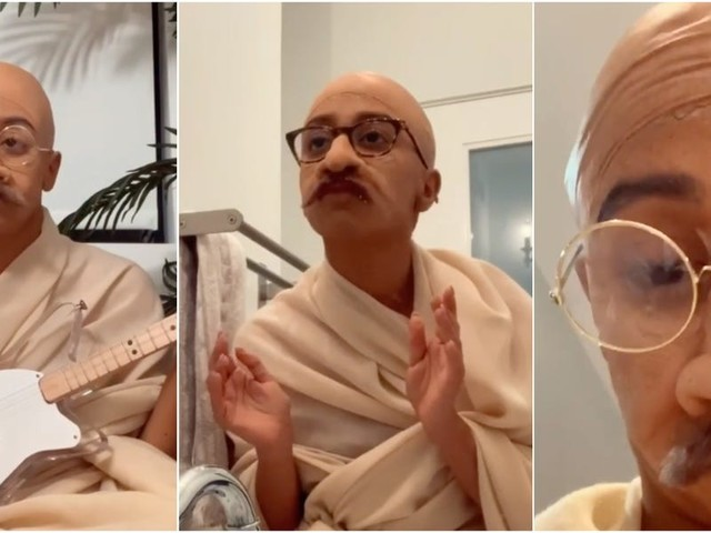 YouTuber Liza Koshy dressed up as Gandhi for Halloween and it's the best thing you'll see today