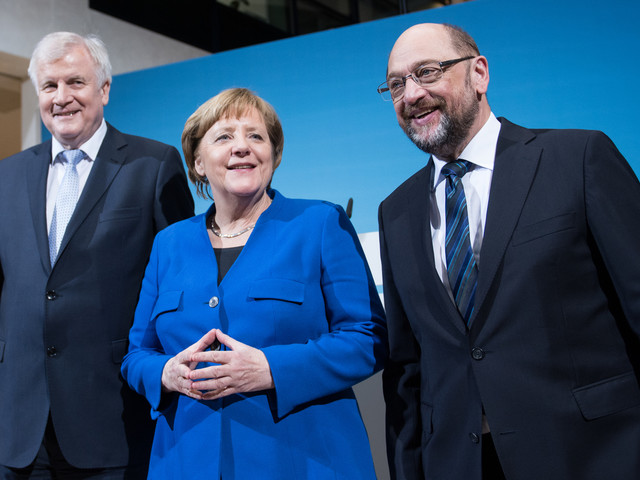 German Leaders Emerge From Marathon Talks With Blueprint For New Coalition
