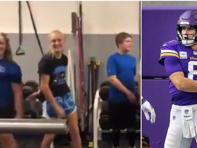 Owatonna middle school students do the 'Kirk Cousins dance'