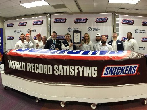 Texas-sized Snickers claims world record for largest chocolate nut bar