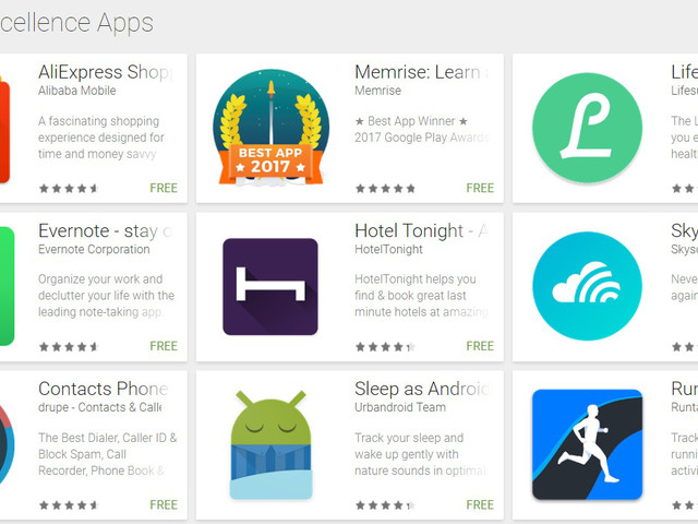 Android Excellence collections highlight the best apps on Google Play