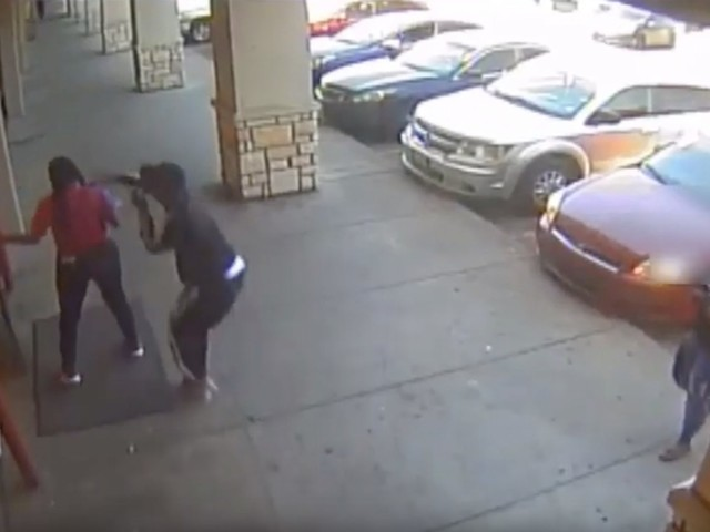 'Bank jugging' caught on camera outside Houston dollar store