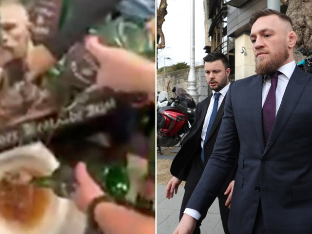 An enraged pub owner filmed himself pouring Conor McGregor's whiskey down the toilet, saying McGregor is 'not a true representative of the Irish people'