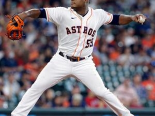Astros pitching a combined no-hitter through 7 innings.