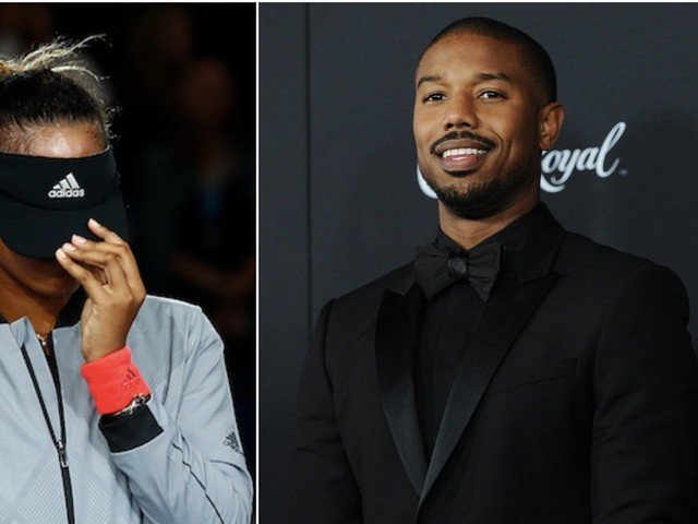 Naomi Osaka was asked a question about her crush Michael B. Jordan and it embarrassed her so much she pulled her hat over her face