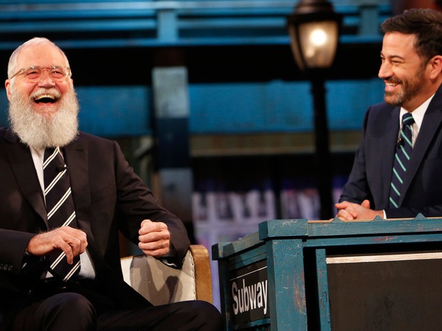 David Letterman Makes Late Night Return on 'Jimmy Kimmel Live' - Watch Here!