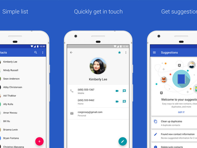 Google Contacts app now available to devices on Android 5.0 and up