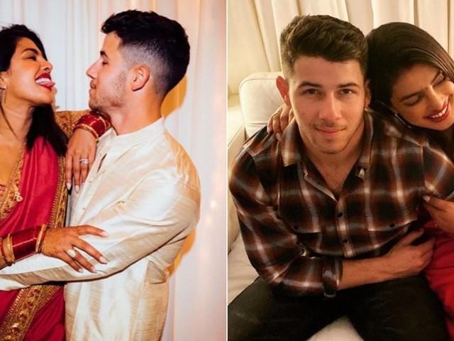 Priyanka Chopra and Nick Jonas Look Blissfully Happy Celebrating Their First Karva Chauth