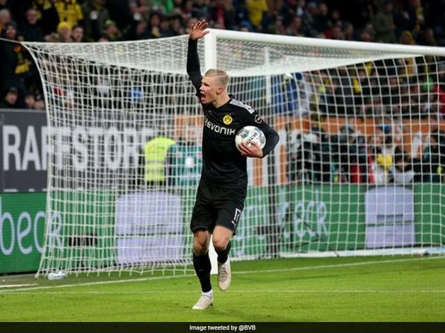 Haaland's Hat-Trick On Debut Helps Borussia Dortmund Beat Augsburg 5-3