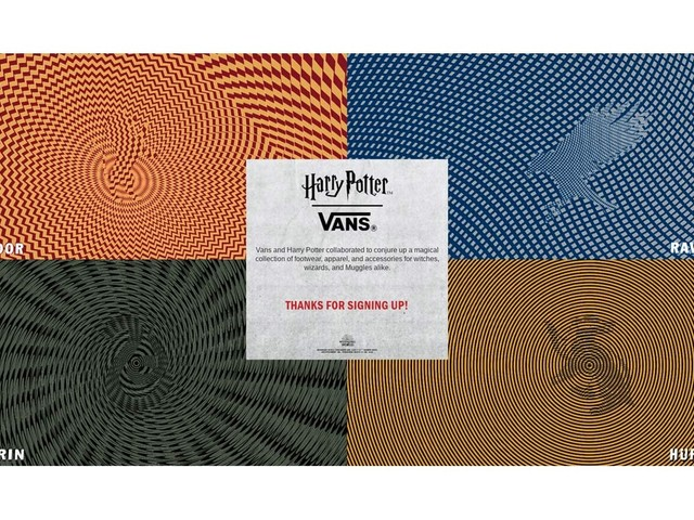 Vans teases Harry Potter collection