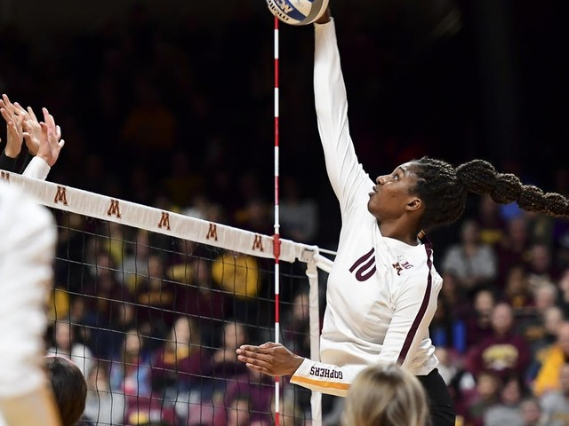 Gophers volleyball sweeps Fairfield to reach NCAA second round