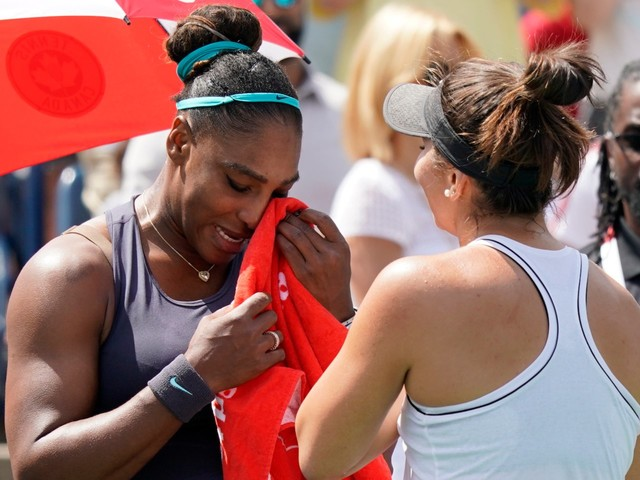 A 19-year-old Canadian beat Serena Williams in the Rogers Cup final after the veteran American retired after 4 games because of back spasms