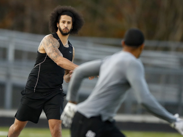 Colin Kaepernick hasn't gotten a shot, but receiver from his NFL workout did with Washington
