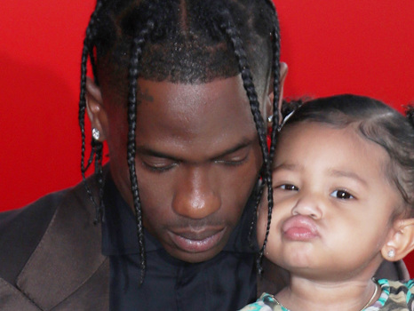 Stormi Webster Smiles While Watching Video Of Dad Travis Scott Performing At Rolling Loud– Watch