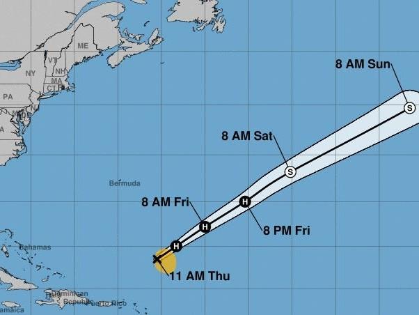 Hurricane season not over yet: Sebastien forecast to become rare November hurricane in Atlantic