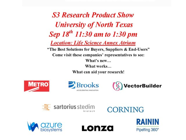 S3 Scientific Sales Solutions Research Product Show