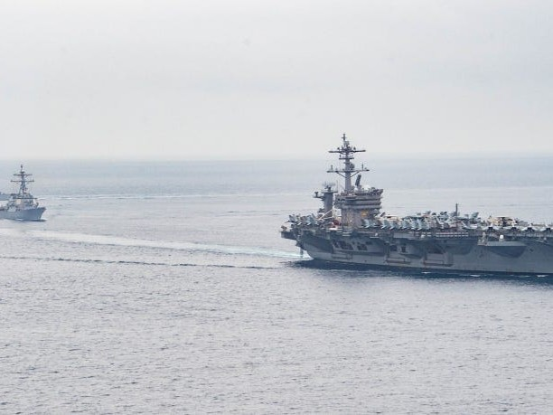 A US Navy carrier strike group is deploying with advanced fifth-generation F-35C stealth fighter jets for the first time