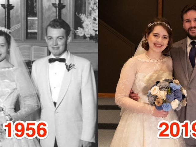 A bride wore her grandmother's wedding dress from 1956, and it still looks brand new