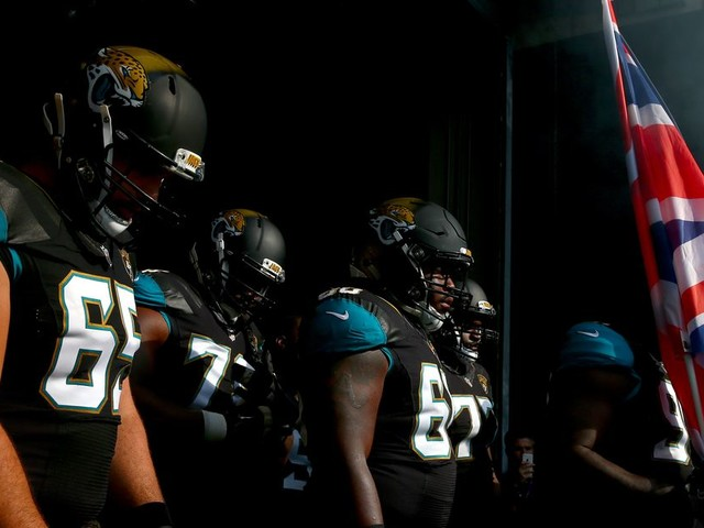 Why do the Jaguars play in London every year?