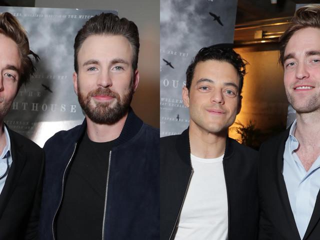 Chris Evans & Rami Malek Host Screening of Robert Pattinson's 'The Lighthouse'