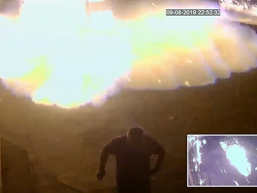 Man dashes to safety as fuel leak from Russian petrol station creates a massive fireball