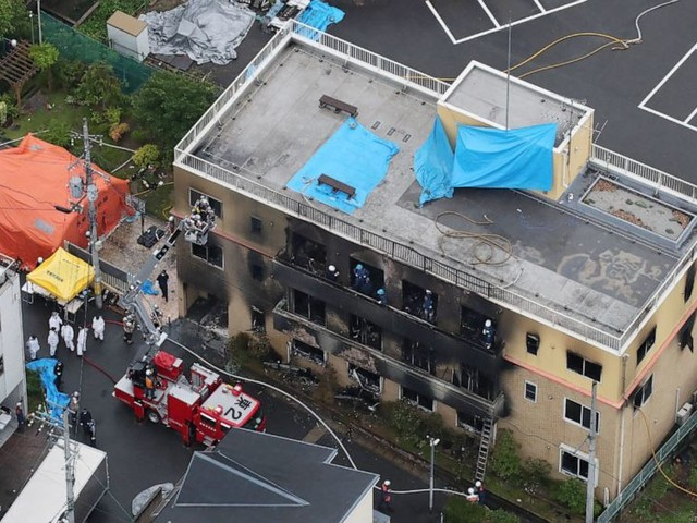 More than 20 feared dead in blaze at Kyoto animation studio that injured dozens more