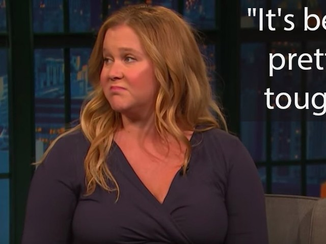 Amy Schumer talks about the reality of living with severe vomiting during pregnancy